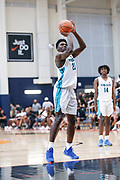 THOUSAND OAKS, CA Sunday, August 12, 2018 - Nike Basketball Academy. Isaiah Stewart 2019 #23 of La Lumiere School shoots free-throw. <br /> NOTE TO USER: Mandatory Copyright Notice: Photo by John Lopez / Nike