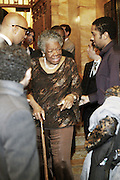 Maya Angelou at the The Edmont Society Affair:  A Benefit for Reader and Writers with a performance by Common and Maya Angelou held at The Friars Club on October 27,, 2008