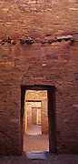 Series of doors in ruins at Chaco Canyon National Historic Park, New Mexico