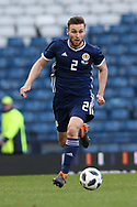 Scotland defender Stephen O?Donnell (2) (Kilmarnock)  during the Friendly international match between Scotland and Portugal at Hampden Park, Glasgow, United Kingdom on 14 October 2018.