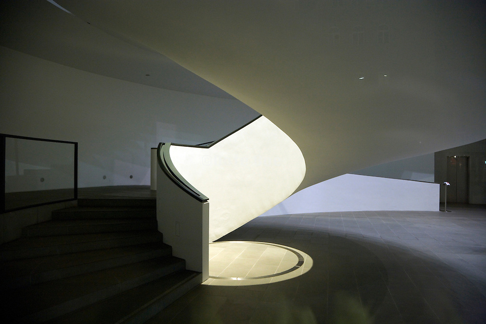 under site of the grand stairwell at the design and art museum in Nuremberg