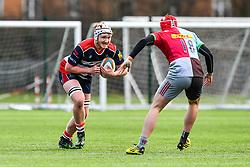 Owen Evans of Bristol Academy U18 in action - Mandatory by-line: Craig Thomas/JMP - 03/02/2018 - RUGBY - SGS Wise Campus - Bristol, England - Bristol U18 v Harlequins U18 - Premiership U18 League