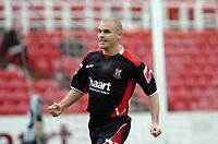 Photo: Kevin Poolman.<br />Swindon Town v Lincoln City. Coca Cola League 2. 28/10/2006. Lincoln's Jamie Forrester celebrates his goal.