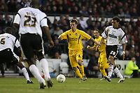 Photo: Pete Lorence.<br />Derby County v Bristol Rovers. The FA Cup. 27/01/2007.<br />Sammy Igoe attempts to break through the solid Derby defence.