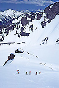 Ascending Blue Glacier on Mount Olympus in Olympic National Park (a UNESCO World Heritage Site), in Washington, USA. May 30, 1982.
