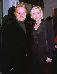 MR & MRS ANTHONY WORRELL-THOMPSON he is the chef, at a party in London on 21st December 1998.MNB 22