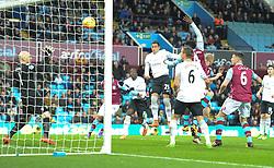Ramiro Funes Mori of Everton scores with a header to make it 1-0 - Mandatory byline: Alex James/JMP - 01/03/2016 - FOOTBALL - Villa Park - Birmingham, England - Aston Villa v Everton - Barclays Premier League