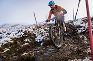 Andrew Hatherley at the top of stage one of the Kinlochleven Enduro.