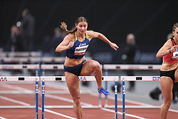 February 7, 2018 - Paris, Ile-de-France, France - Hanna Plotitsyna of Ukraine competes in 60m Hurdles during the Athletics Indoor Meeting of Paris 2018, at AccorHotels Arena (Bercy) in Paris, France on February 7, 2018. (Credit Image: © Michel Stoupak/NurPhoto via ZUMA Press)