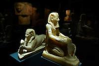 Egypte, la côte méditerranéenne, Alexandrie, Musée National d'Alexndrie. Statue de Thutmose III. // Egypt, Alexandria, National museum. Statue of Thutmose III.