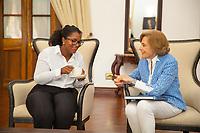 Dr. Sylvia Earle and Angelique Pouponneau Tea time