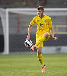 Arsenii Batahov (Ukraine) under U21 EM2021 Kvalifikationskampen mellem Danmark og Ukraine den 4. september 2020 på Aalborg Stadion (Foto: Claus Birch).