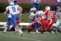 16 September 2006: Marques Hawkins takes down Norris Smith.  The Eastern Illinois Panthers and The Illinois State Redbirds have a long standing rivalry. This years competition commenced at Hancock Stadium on the campus of Illinois State University in Normal Illinois.