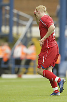 Photo: Aidan Ellis.<br /> Sheffield Wednesday v Birmingham City. Pre Season Friendly. 04/08/2007.<br /> Birmingham's Mikkael Forssell leaves the pitch after cutting his head