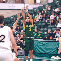 3rd year guard, Kameron Vales (3) of the Regina Cougars during the Men's Basketball Home Game on Sat Nov 03 at Centre for Kinesiology,Health and Sport. Credit: Arthur Ward/Arthur Images