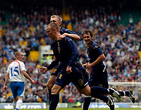 Photo: Jed Wee.<br />Scotland v Faroe Islands. European Championships 2008 Qualifying. 02/09/2006.<br /><br />Scotland's Kenny Miller celebrates after his penalty.