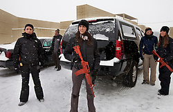 Members of Hillary Clinton's security detail take part in training drills at a training facility in Summit Point, W.Va on Dec. 16, 2011.