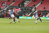 Football - 2020 / 2021 Sky Bet Championship - AFC Bournemouth vs. Queens Park Rangers - The Vitality Stadium<br /> <br /> Macauley Bonne of Queens Park Rangers has a shot on goal well saved during the Championship match at the Vitality Stadium (Dean Court) Bournemouth <br /> <br /> COLORSPORT/SHAUN BOGGUST