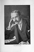 Alfred Milner, 1st Viscount Milner, KG, GCB, GCMG, PC (23 March 1854 – 13 May 1925) was a British statesman and colonial administrator who played a role in the formulation of foreign and domestic policy between the mid-1890s and early 1920s. From December 1916 to November 1918, he was one of the most important members of David Lloyd George's War Cabinet. from the book ' Boer and Britisher in South Africa; a history of the Boer-British war and the wars for United South Africa, together with biographies of the great men who made the history of South Africa ' By Neville, John Ormond Published by Thompson & Thomas, Chicago, USA in 1900