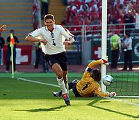 Fotball, 17. juni 2004, EM, Euro 2004, Sveits- England, Steven Gerrard England celebrates scoring 3rd goal <br /> Foto: Digitalsport