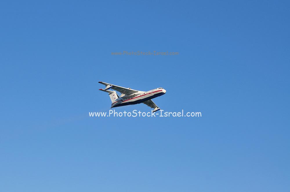 Israel, Carmel forest fire, Russian Beriev-200 fire fighting plane
