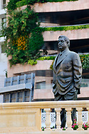 A statue of Rafik Hariri, former Lebanese Prime Minister who was killed by a car bomb in Beirut on February 14, 2005. The statue stands close to the spot where he died, near the St. George Hotel.