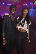 MASON SMILLIE; JOURDAN DUNN;, Club DKNY in celebration of DKNYARTWORKS hosted by Cara Delevingne  at The Fire Station, Lambeth High St. London. 12 June 2013