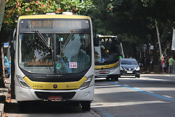 September 2, 2017 - Rio De Janeiro, Brazil - Rio de Janeiro, Brazil, September 2, 2017: After excessive increases in the value of urban bus fares in the city of Rio de .Janeiro in 2015 under the pretext of modernizing the fleet, the court decreed a reduction of the current BRL 3.80 to R$ .3.60. The reduced fares began to be practiced this Saturday. (Credit Image: © Luiz Souza/NurPhoto via ZUMA Press)