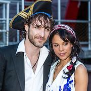 NLD/Amsterdam//20170522 - Film premiere  Pirates of the Caribbean, Javier Guzman en partner Chloe Leenheer