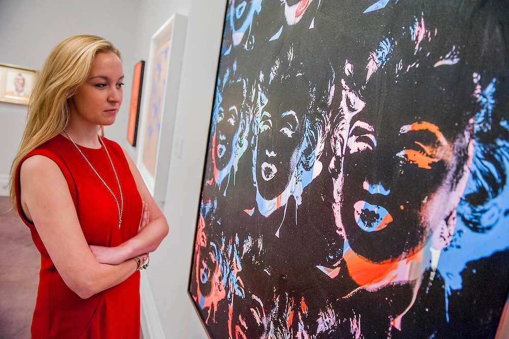 Sotheby's £250m Impressionist & Modern Art and Contemporary Art Summer Sales.  Highlights include: Monet's Water Lilies est £20-30m; a Mondrian, est £13-18m; a Peter Doig, est £9m; a Frances Bacon triptych of his lover George Dyer, est £15-20m; and works by Matisse, Picasso, Basquiat, Warhol  (here his Nine Marilyns est £4m, pictured)and Richter. Sotheby's, New Bond Street, London.