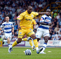 Photo: Leigh Quinnell.<br /> Queens Park Rangers v Southampton. Coca Cola Championship. 01/09/2007. New Southampton signing Stern John has a shot on goal.