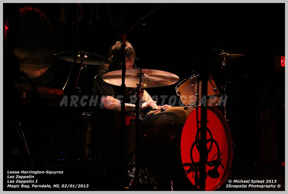 FERNDALE, MI, SATURDAY, FEB. 02, 2013: Lez Zeppelin, Led Zeppelin I Leesa Harrington-Squyres at Magic Bag, Ferndale, MI, 02/02/2013.  (Image Credit: Michael Spleet / 2SnapsUp Photography)