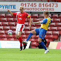 Photo: Mark Stephenson.<br /> Wrexham v Hereford United. Coca Cola League 2. 01/09/2007.Hereford's Dean Beckwith cleares the ball