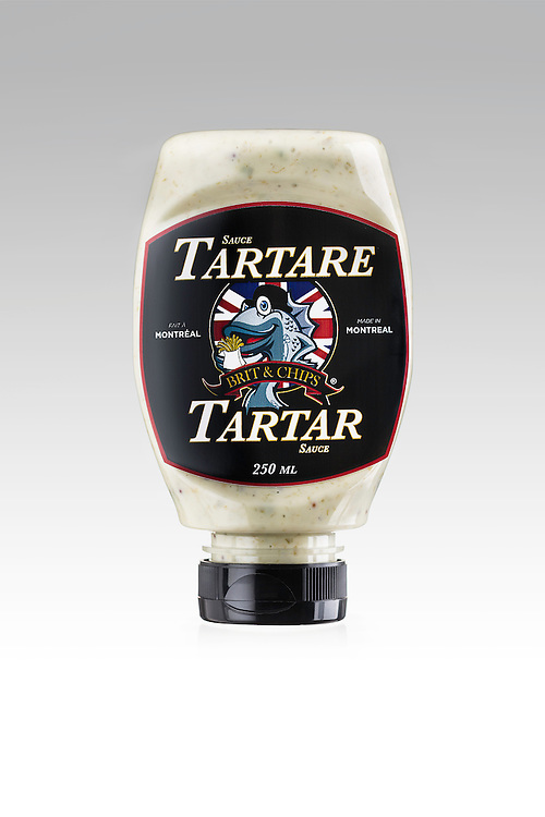 Tartar sauce product photo for Brit 'n Chips. 2015.