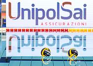 Venues Sponsor<br /> Unipol Sai<br /> - (white cap) vs  -(blue cap)<br /> LEN Champions League Ostia<br /> Polo Natatorio Freccia Rossa <br /> Ostia, Italy ITA <br /> Photo © G. Scala/Deepbluemedia
