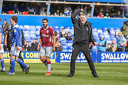 March 10, 2019 - Birmingham, England, United Kingdom - Aston Villa manager Dean Smith celebrates after the final whistle during the Sky Bet Championship match between Birmingham City and Aston Villa at St Andrews, Birmingham on Sunday 10th March 2019. (Credit Image: © Mi News/NurPhoto via ZUMA Press)