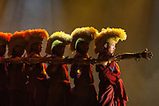 Tibetan dance performance. Zhongdian. Deqin Tibetan Autonymous Prefecture. Yunnan Province. CHINA<br /> There are over 100,000 Tibetans in China and they are mostly concentrated in Deqin with smaller communities in Lijiang, Yongsheng, Gongshan and Ninglang.