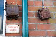 Old Fireman's switch mechanisms, Walberswick, Suffolk
