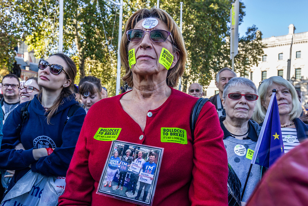 London, UK. 20th October, 2018.<br /> People's Vote march for new Brexit referendum.