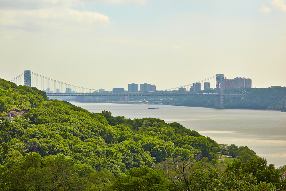 View of Hudson River and George Washington Bridge from Riverdale, 750 Kappock Street