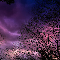 The Gods were angry this evening. <br /> <br /> Combine twilight with a fast moving storm Please select Shopping Cart Below to Purchase prints and gallery-wrapped canvases, magnets, t-shirts and other accessories