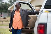 Samuel E. Mims visits with other concerned citizens after a meeting with the EPA, Army and local residents to discuss the disposal of 15 million pounds of M6 located at Camp Minden in Minden, Louisiana on March 11, 2015. (Cooper Neill for The New York Times)