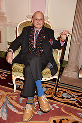Naim Attallah at a reception to celebrate the publication on 'Mother Anguish' by Basia Briggs held in The Music Room, The Ritz Hotel, 150 Piccadilly, London, England. 04 December 2017.