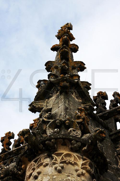 A detail of the Convent of Jesus Christ at Tomar in the Center of Portugal. Started to be built in the 12 th Century by the Poor Knights of Jesus Christ (the Templars), with strong influence from Jerusalem's religious buildings from the time of Crusades, as the Temple of the Rock.Paulo Cunha/4see
