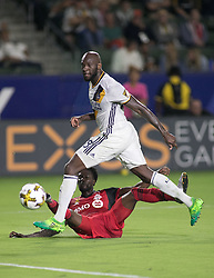September 16, 2017 - Carson, California, U.S - Michael Ciani #28 of the L.A. Galaxy is unable to stop the ball kicked by Tosaint Ricketts #87 of the Toronto FC for a goal during their game on Saturday September 16, 2017 at StubHub Center in Carson, California. L.A. Galaxy loses to Toronto FC, 4-0. (Credit Image: © Prensa Internacional via ZUMA Wire)