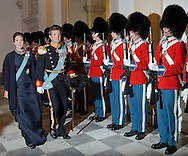 Copenhagen, 06-01-2016<br /> <br /> Queen Margrethe and Crown Prince Frederik and Crown Princess Mary attend the New Years Reception for the officers of the Armed Forces<br /> <br /> Photo; Royalportraits Europe/Bernard Ruebsamen