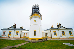 View of Sumburgh Lighthouse  at Sumburgh Head on Shetland, Scotland, UK