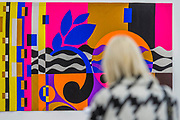 Rio Azul, tapestry 2016-18 - 'Rio Azul' by Beatriz Milhazes at White Cube Bermondsey. Her first solo show in London for almost a decade features new paintings, installation, sculpture, collage and live performance, as well as her first ever tapestry.