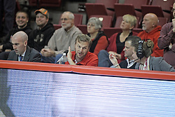 20 November 2013:   during an NCAA Non-Conference mens basketball game between theJaspers of Manhattan and the Illinois State Redbirds in Redbird Arena, Normal IL