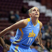 UNCASVILLE, CONNECTICUT- MAY 05:  Elena Delle Donne #11 of the Chicago Sky in action during the Atlanta Dream Vs Chicago Sky preseason WNBA game at Mohegan Sun Arena on May 05, 2016 in Uncasville. (Photo by Tim Clayton/Corbis via Getty Images)